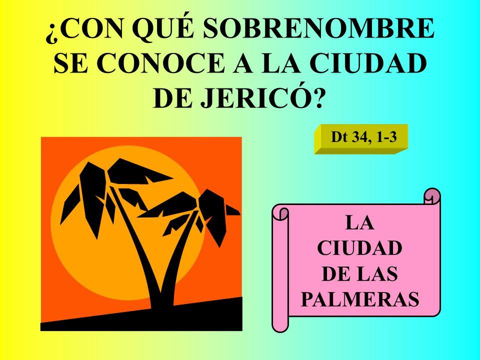 ¿CON QUÉ SOBRENOMBRE SE CONOCE A LA CIUDAD DE JERICÓ