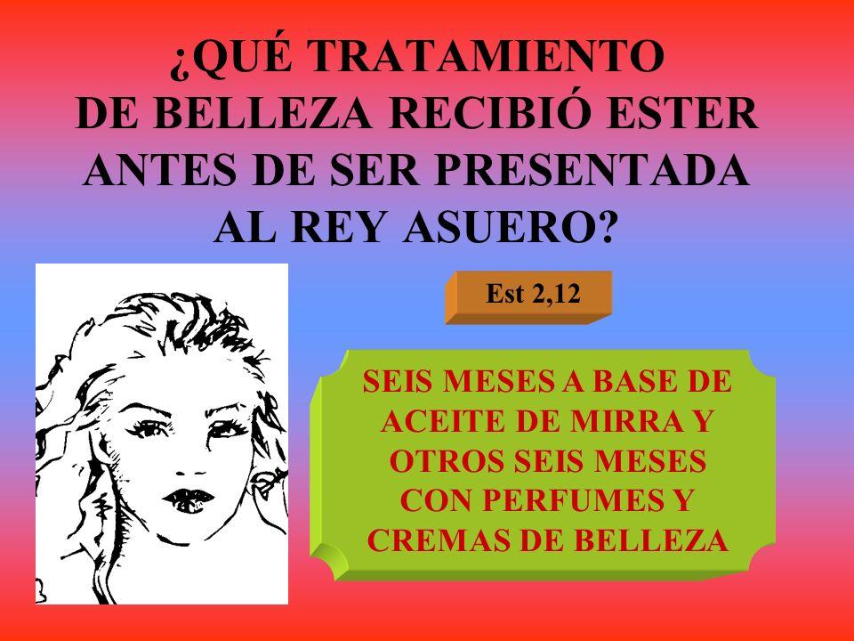 ¿QUÉ TRATAMIENTO DE BELLEZA RECIBIÓ ESTER ANTES DE SER PRESENTADA AL REY ASUERO