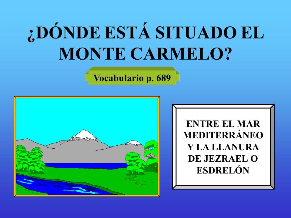 ¿DÓNDE ESTÁ SITUADO EL MONTE CARMELO