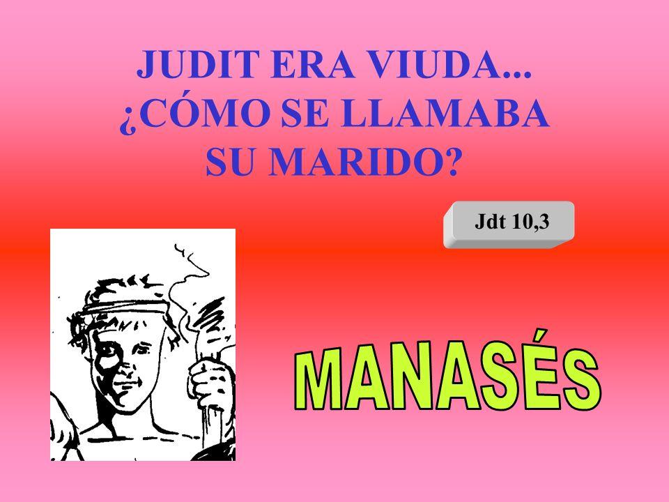 JUDIT ERA VIUDA... ¿CÓMO SE LLAMABA SU MARIDO