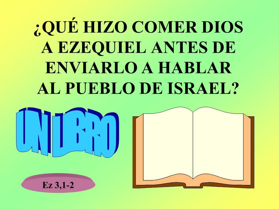 ¿QUÉ HIZO COMER DIOS A EZEQUIEL ANTES DE ENVIARLO A HABLAR AL PUEBLO DE ISRAEL