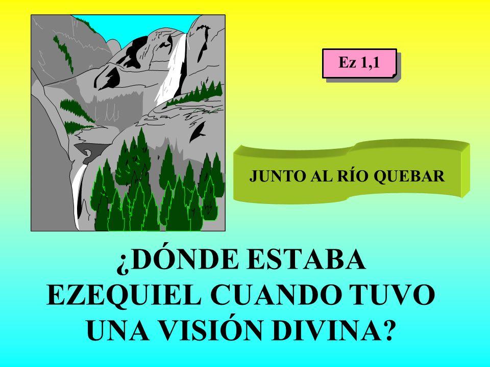 ¿DÓNDE ESTABA EZEQUIEL CUANDO TUVO UNA VISIÓN DIVINA
