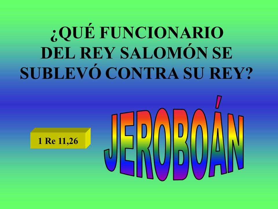 ¿QUÉ FUNCIONARIO DEL REY SALOMÓN SE SUBLEVÓ CONTRA SU REY