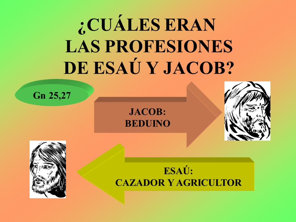 ¿CUÁLES ERAN LAS PROFESIONES DE ESAÚ Y JACOB