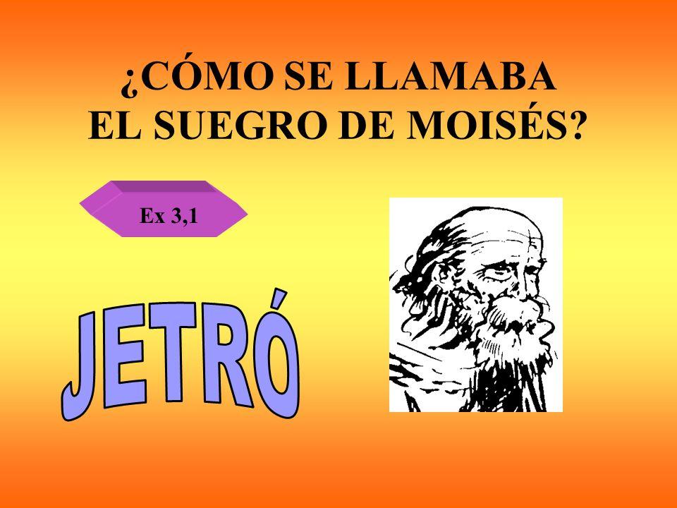 ¿CÓMO SE LLAMABA EL SUEGRO DE MOISÉS