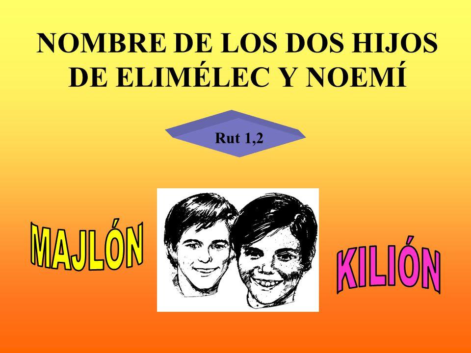 NOMBRE DE LOS DOS HIJOS DE ELIMÉLEC Y NOEMÍ
