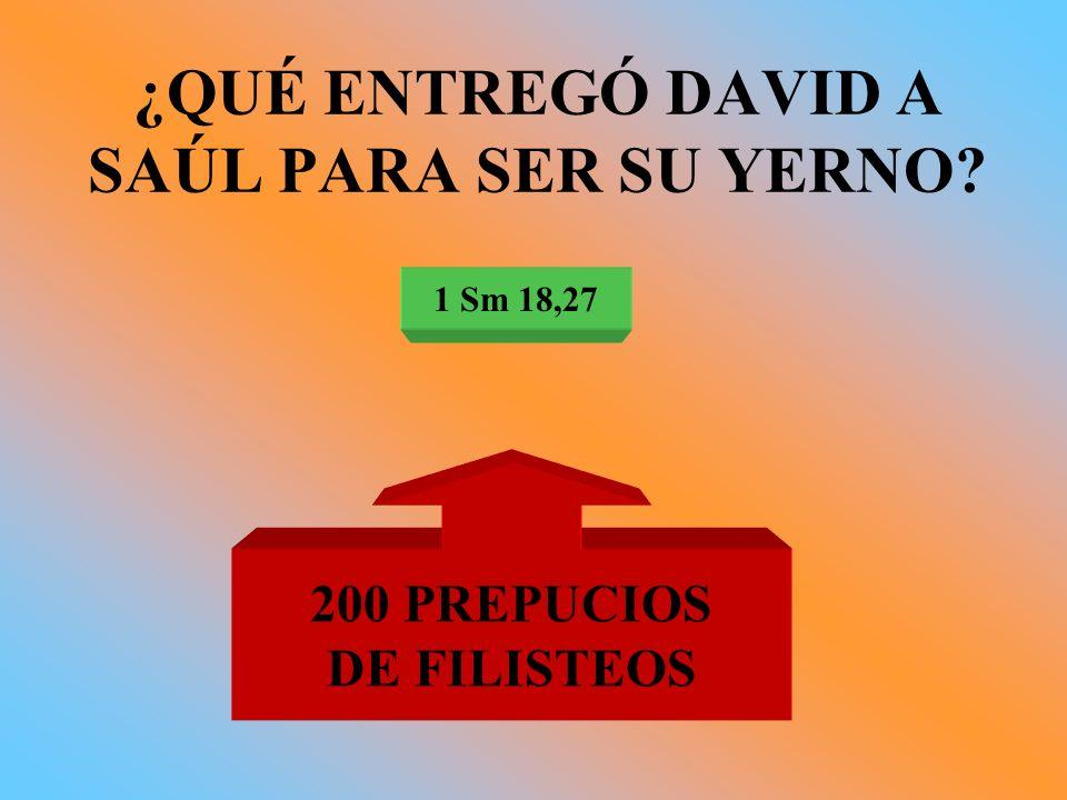 ¿QUÉ ENTREGÓ DAVID A SAÚL PARA SER SU YERNO