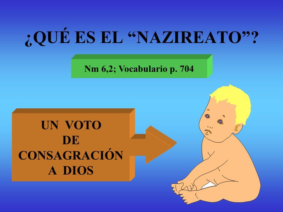 ¿QUÉ ES EL NAZIREATO UN VOTO DE CONSAGRACIÓN A DIOS