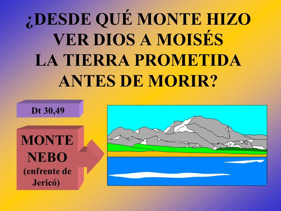 ¿DESDE QUÉ MONTE HIZO VER DIOS A MOISÉS LA TIERRA PROMETIDA ANTES DE MORIR