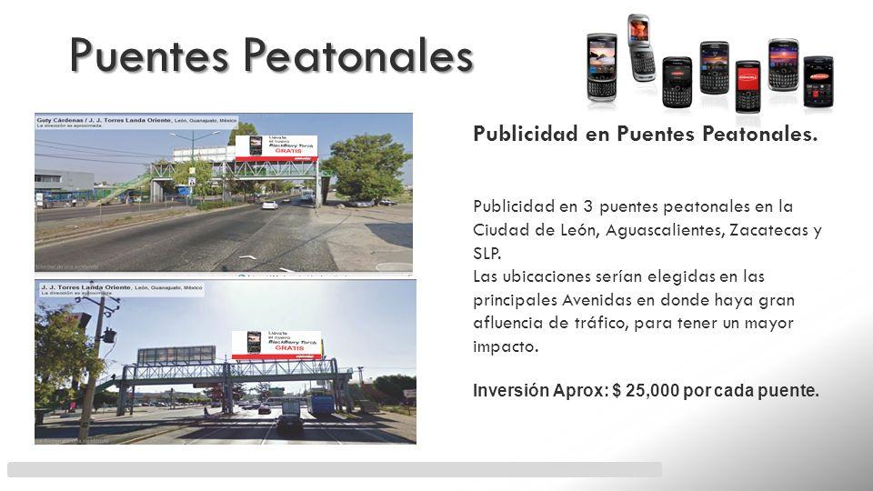Puentes Peatonales Publicidad en Puentes Peatonales.