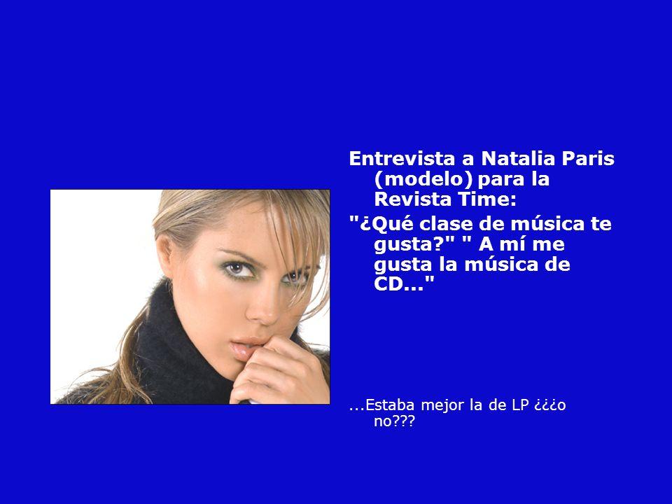Entrevista a Natalia Paris (modelo) para la Revista Time: