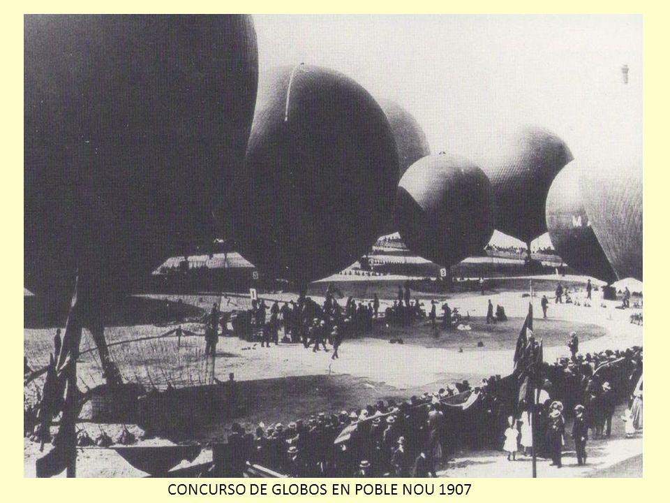 CONCURSO DE GLOBOS EN POBLE NOU 1907