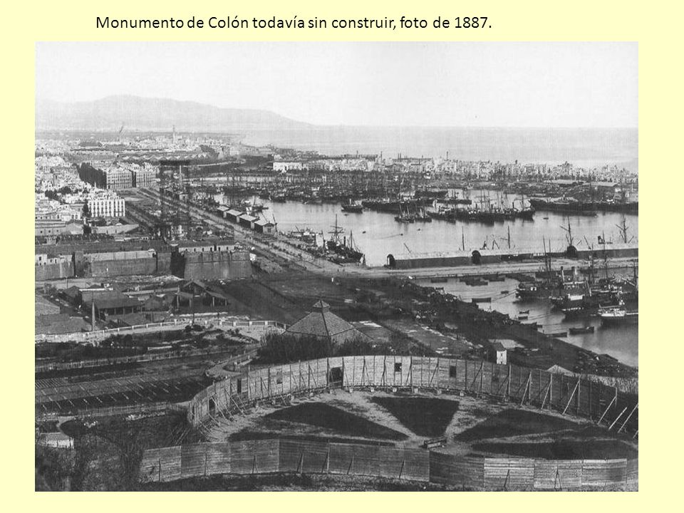 Monumento de Colón todavía sin construir, foto de 1887.