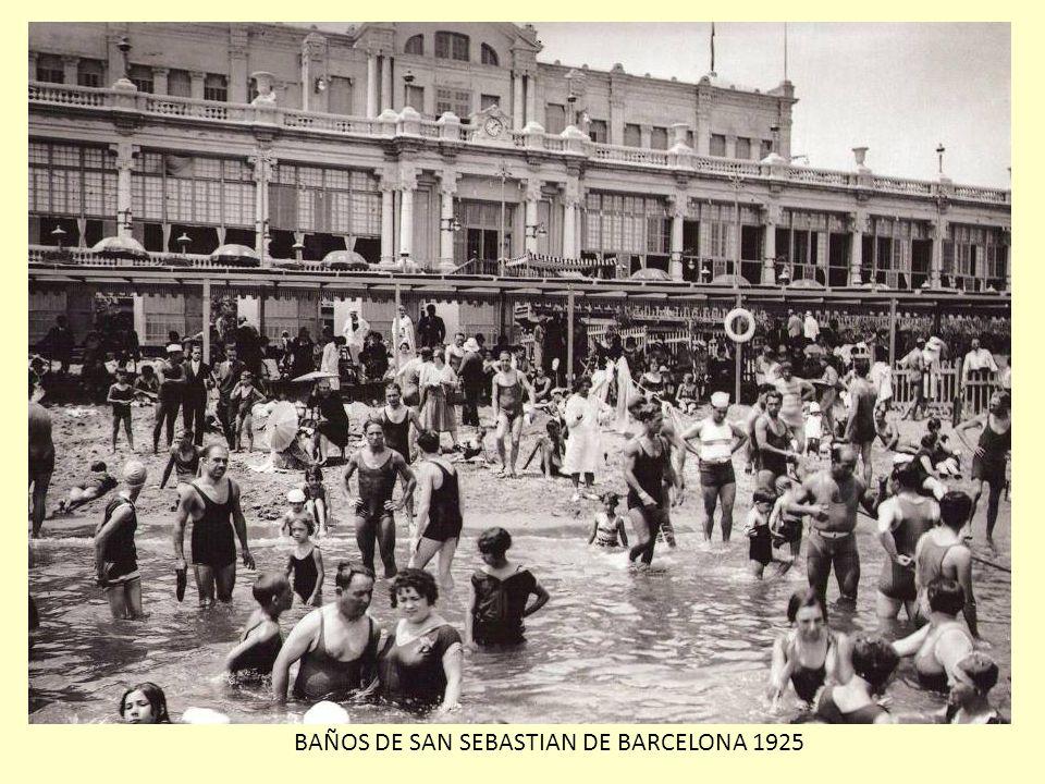 BAÑOS DE SAN SEBASTIAN DE BARCELONA 1925