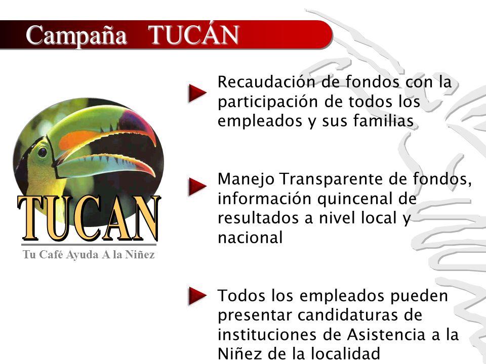 Campaña TUCÁN Recaudación de fondos con la participación de todos los empleados y sus familias.