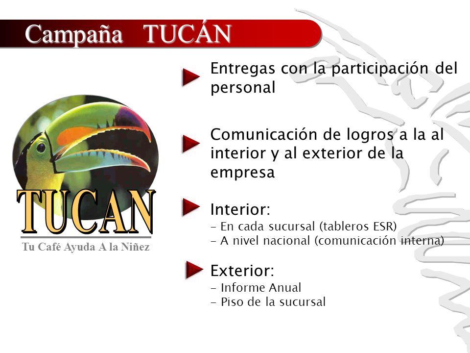 Campaña TUCÁN Entregas con la participación del personal