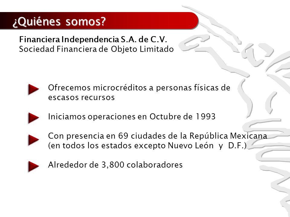 ¿Quiénes somos Financiera Independencia S.A. de C.V.