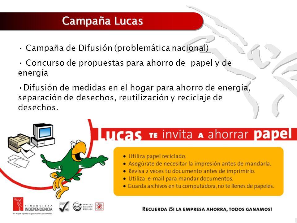 Campaña Lucas Campaña de Difusión (problemática nacional)
