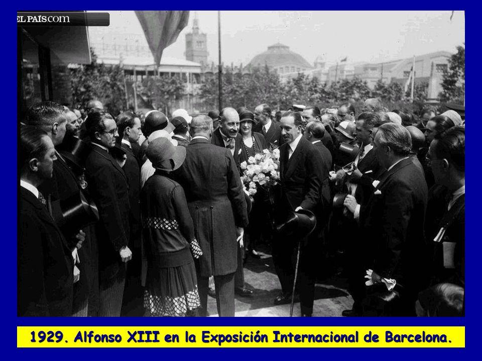1929. Alfonso XIII en la Exposición Internacional de Barcelona.