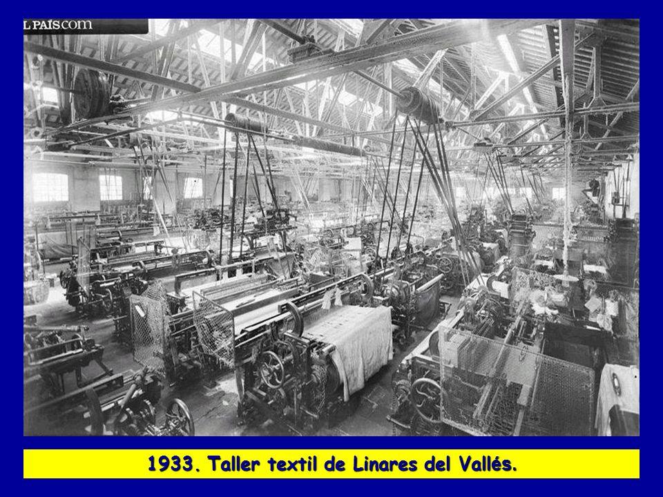 1933. Taller textil de Linares del Vallés.