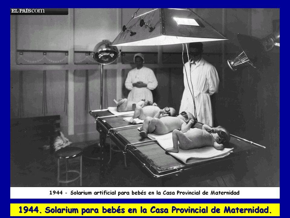 1944. Solarium para bebés en la Casa Provincial de Maternidad.