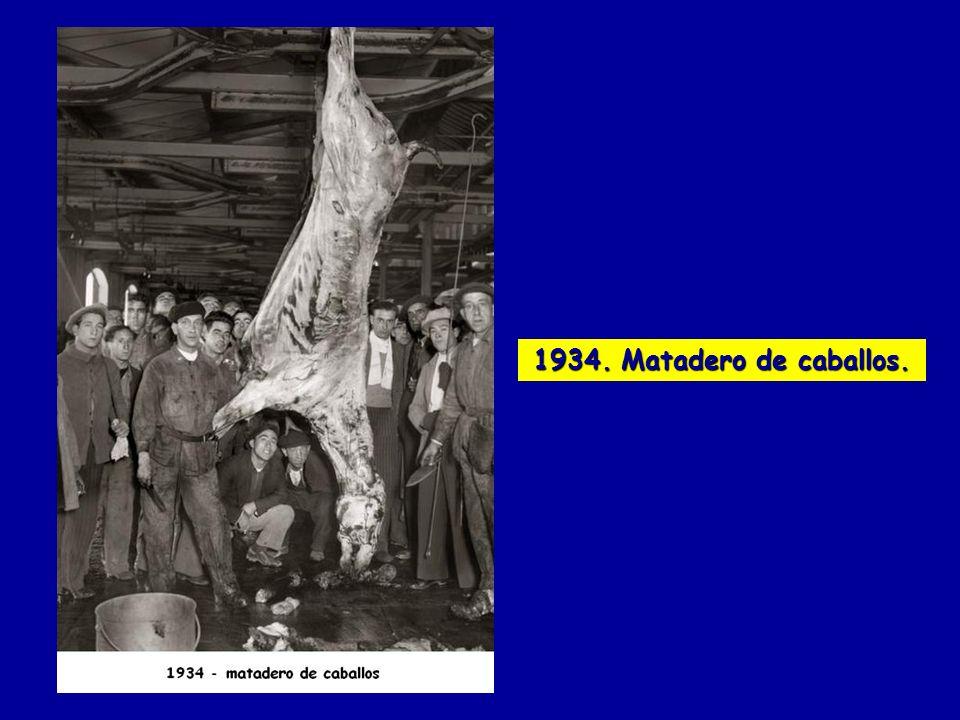 1934. Matadero de caballos.