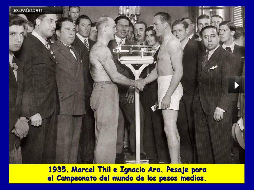 1935. Marcel Thil e Ignacio Ara