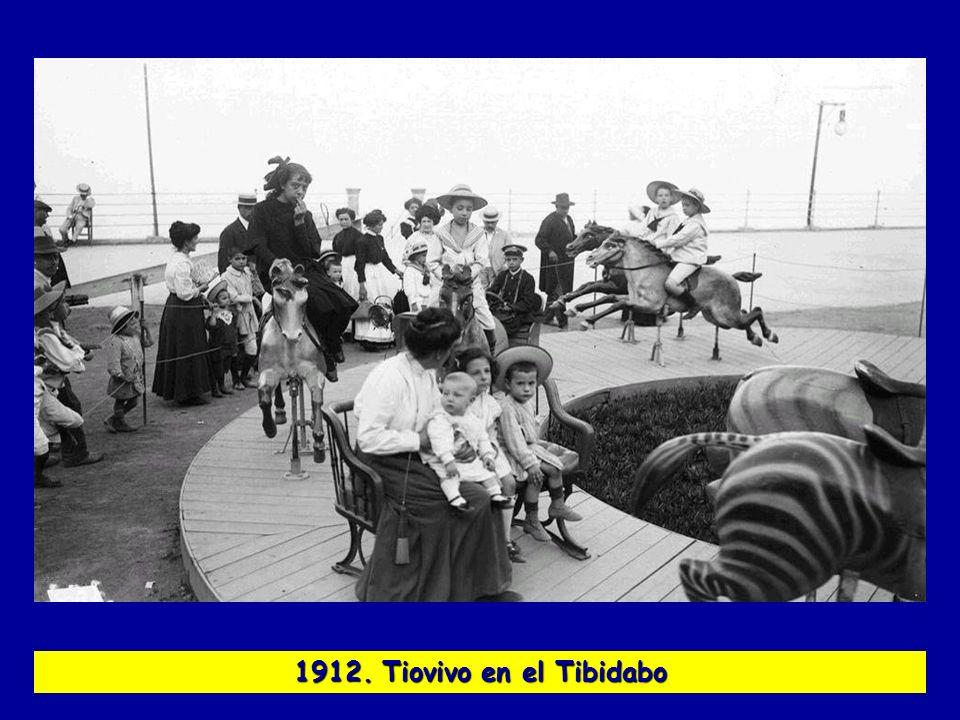 1912. Tiovivo en el Tibidabo