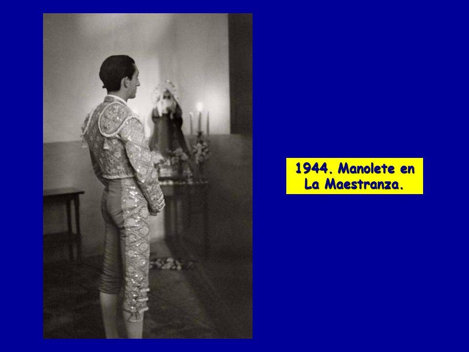 1944. Manolete en La Maestranza.