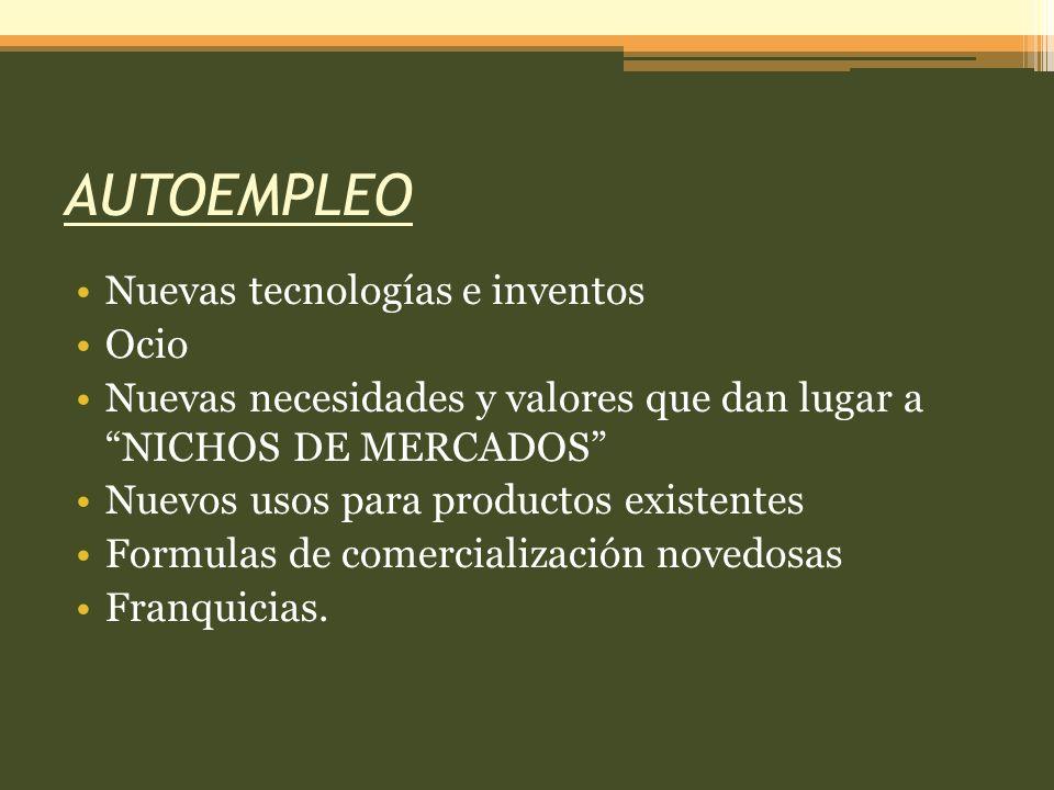 AUTOEMPLEO Nuevas tecnologías e inventos Ocio