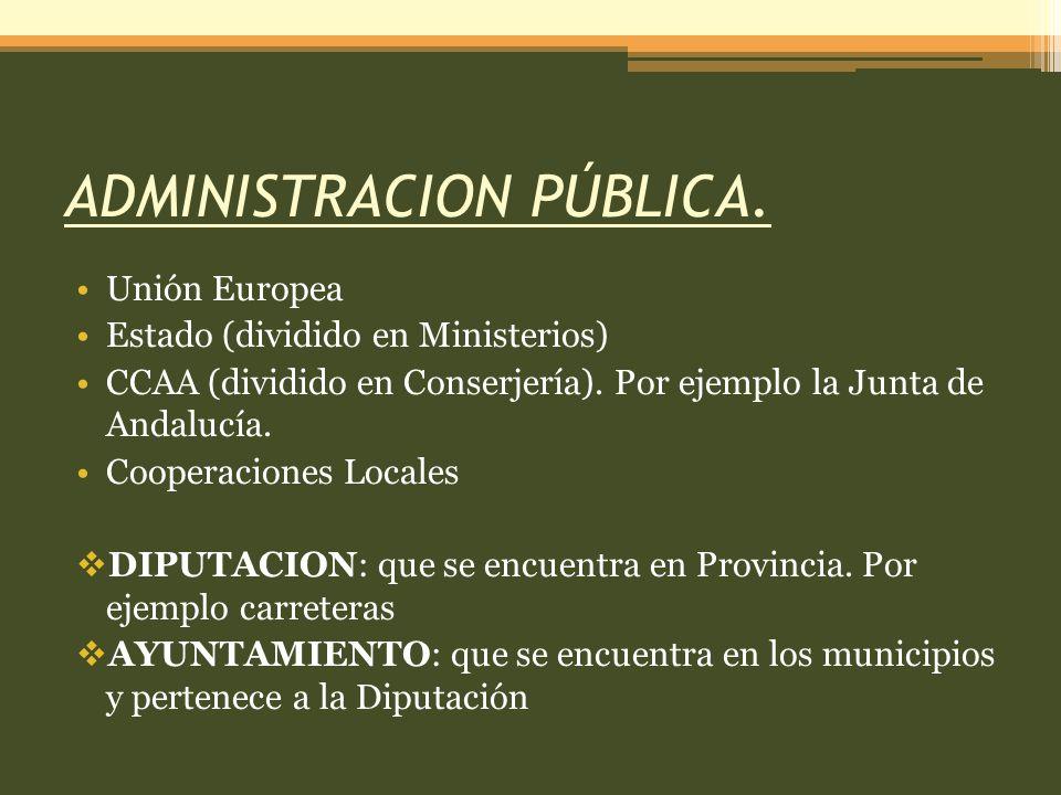 ADMINISTRACION PÚBLICA.
