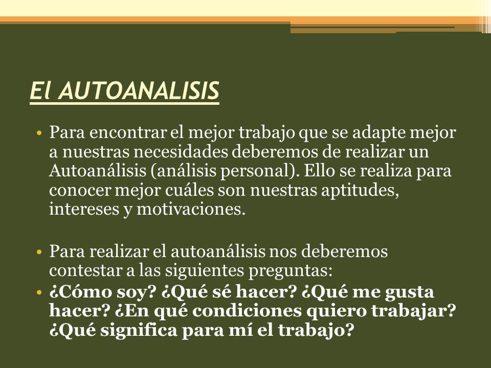 El AUTOANALISIS