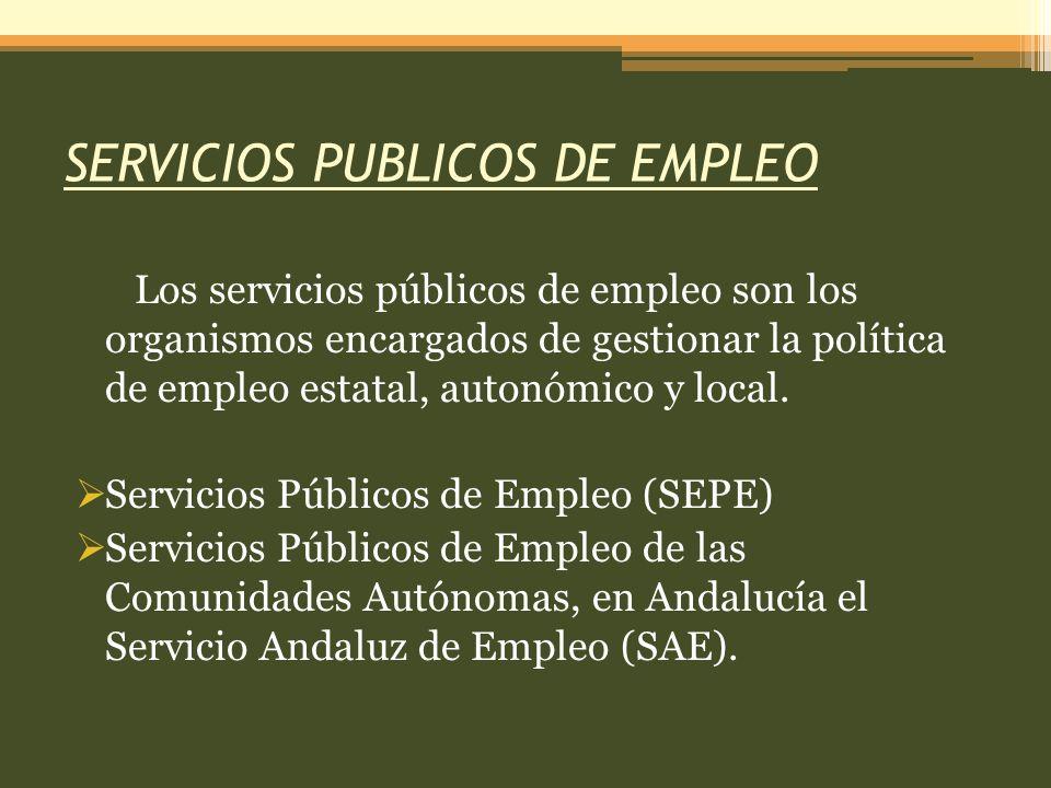 SERVICIOS PUBLICOS DE EMPLEO