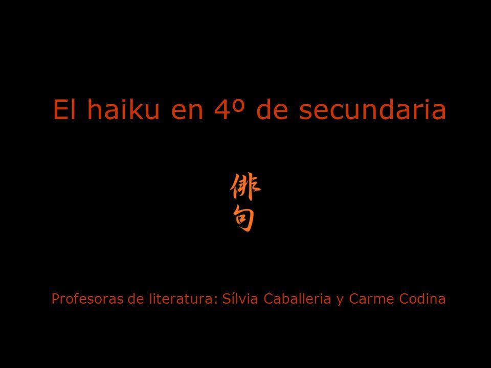 El haiku en 4º de secundaria