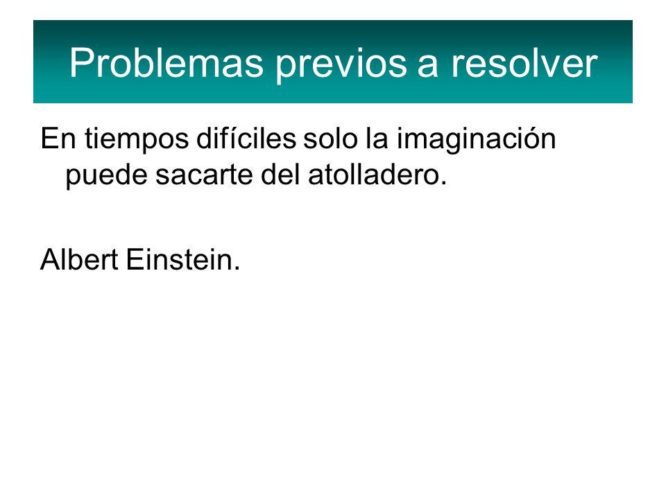 Problemas previos a resolver