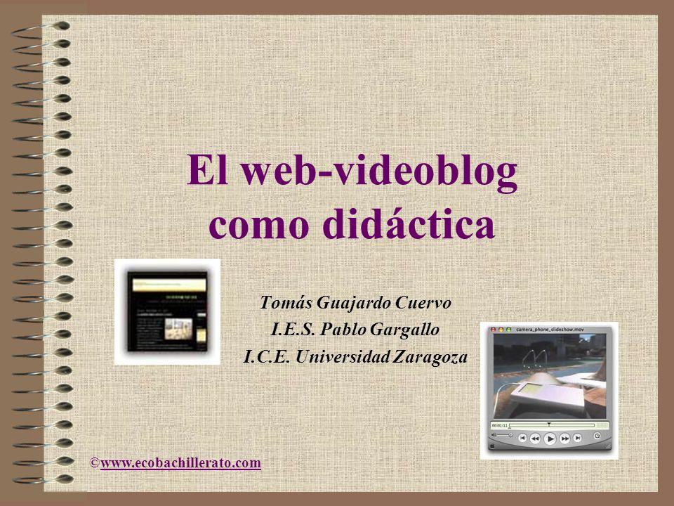 El web-videoblog como didáctica