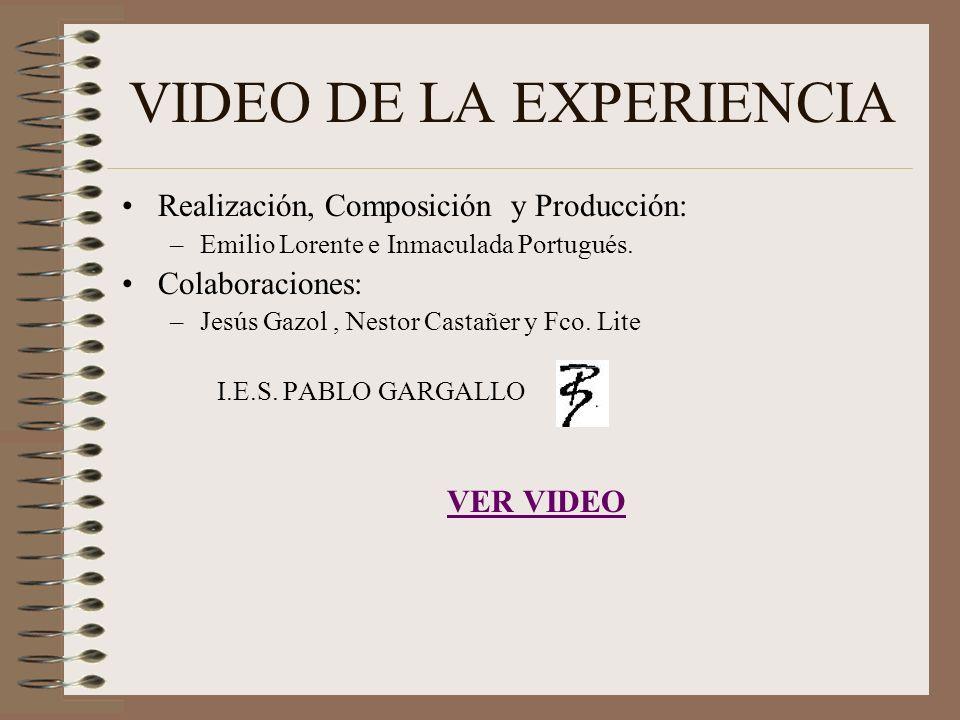 VIDEO DE LA EXPERIENCIA