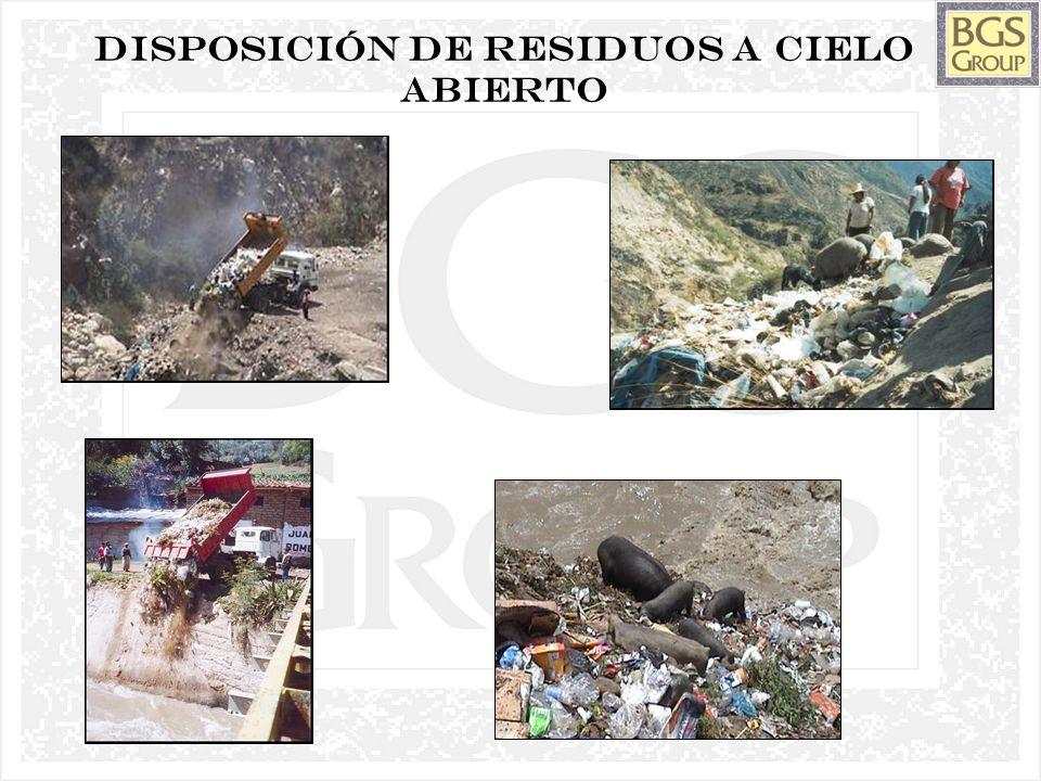 Disposición de residuos a cielo abierto
