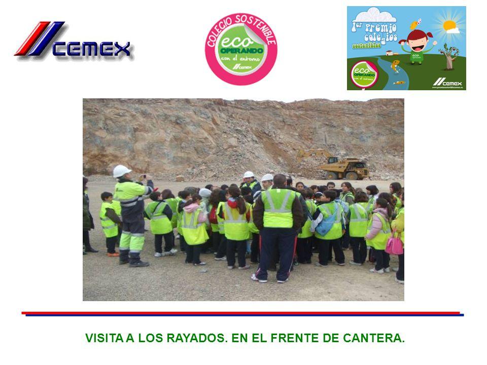VISITA A LOS RAYADOS. EN EL FRENTE DE CANTERA.