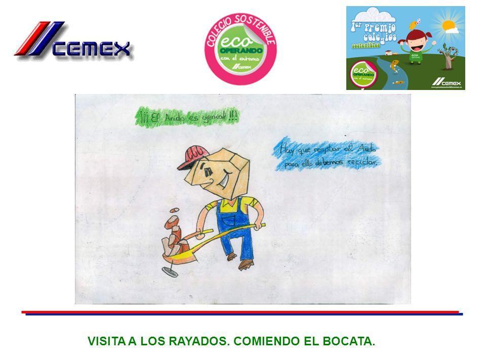 VISITA A LOS RAYADOS. COMIENDO EL BOCATA.