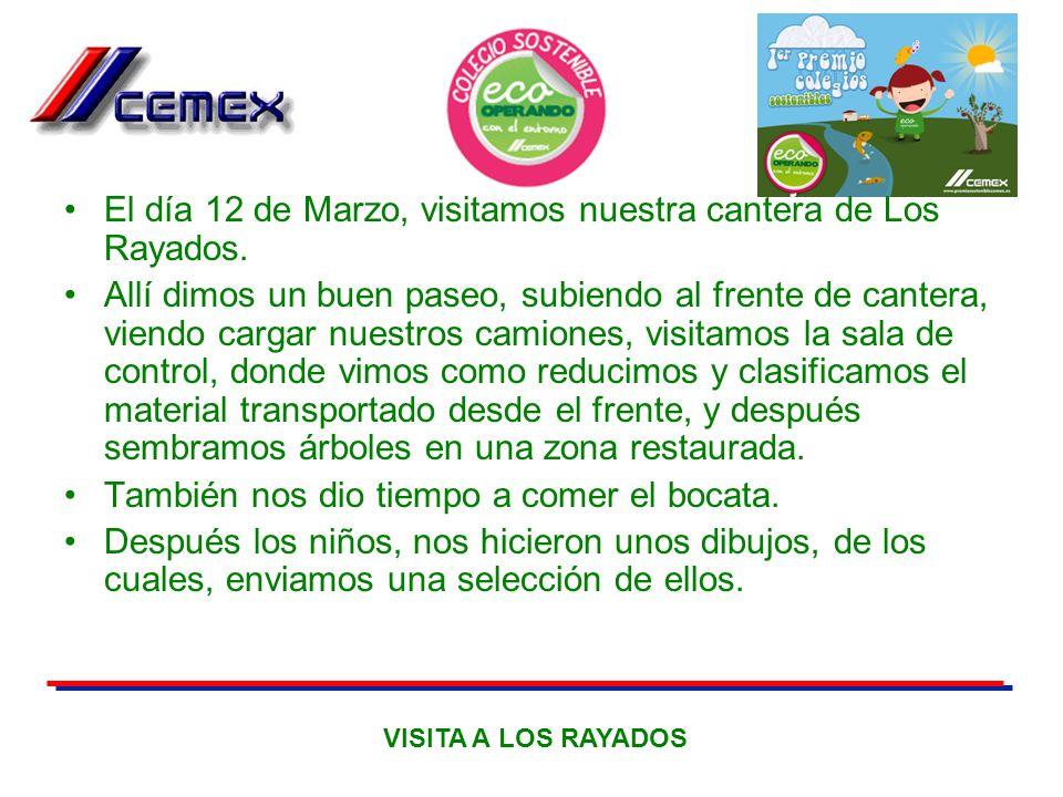 El día 12 de Marzo, visitamos nuestra cantera de Los Rayados.