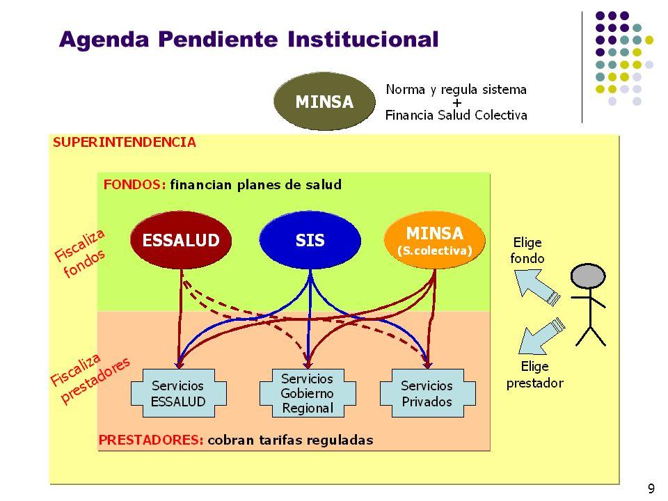 Agenda Pendiente Institucional