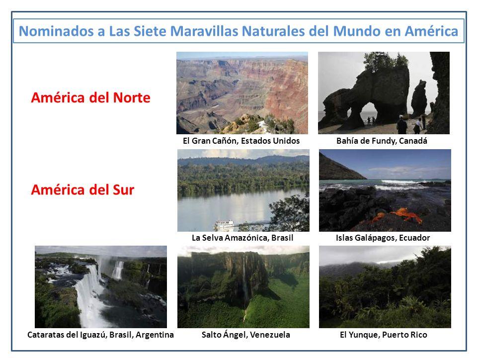 Nominados a Las Siete Maravillas Naturales del Mundo en América