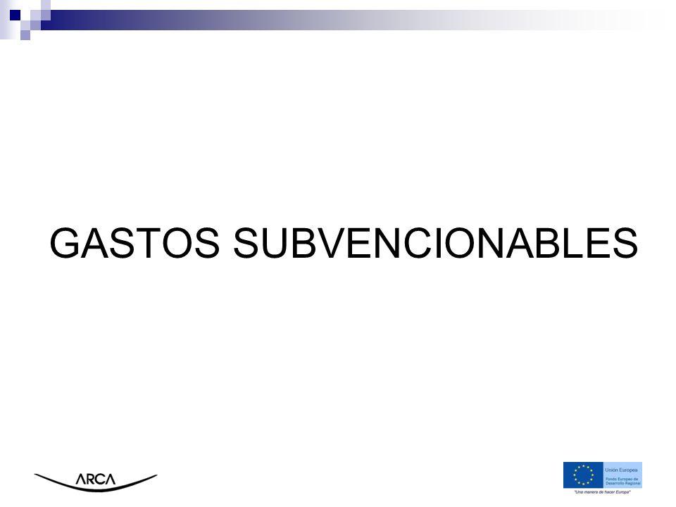 GASTOS SUBVENCIONABLES