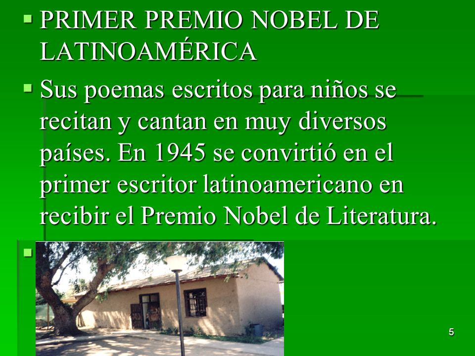 PRIMER PREMIO NOBEL DE LATINOAMÉRICA