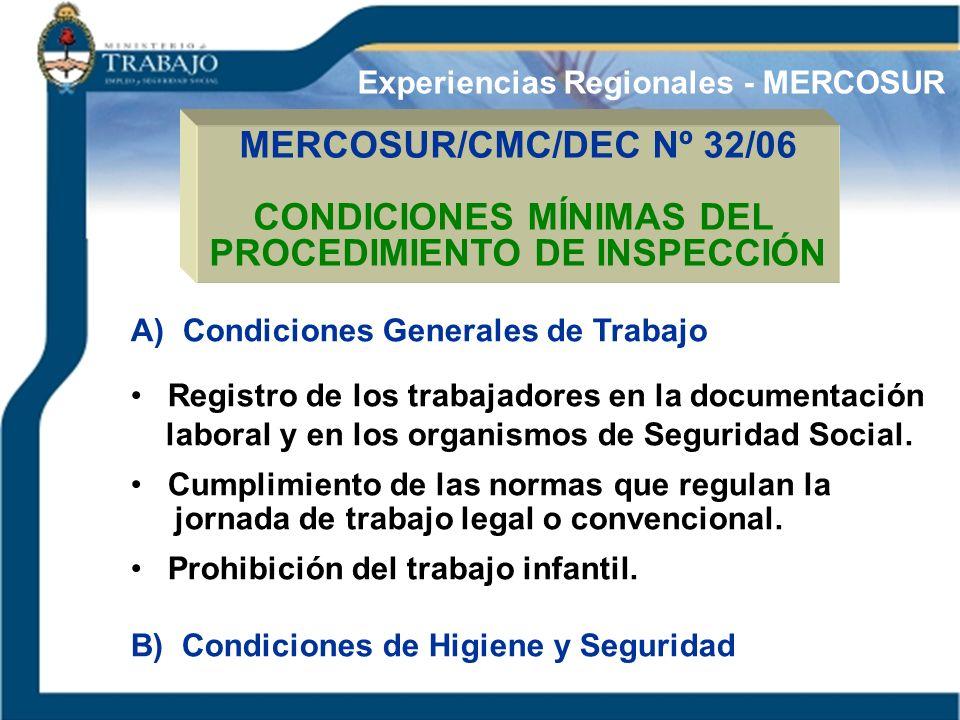 CONDICIONES MÍNIMAS DEL PROCEDIMIENTO DE INSPECCIÓN