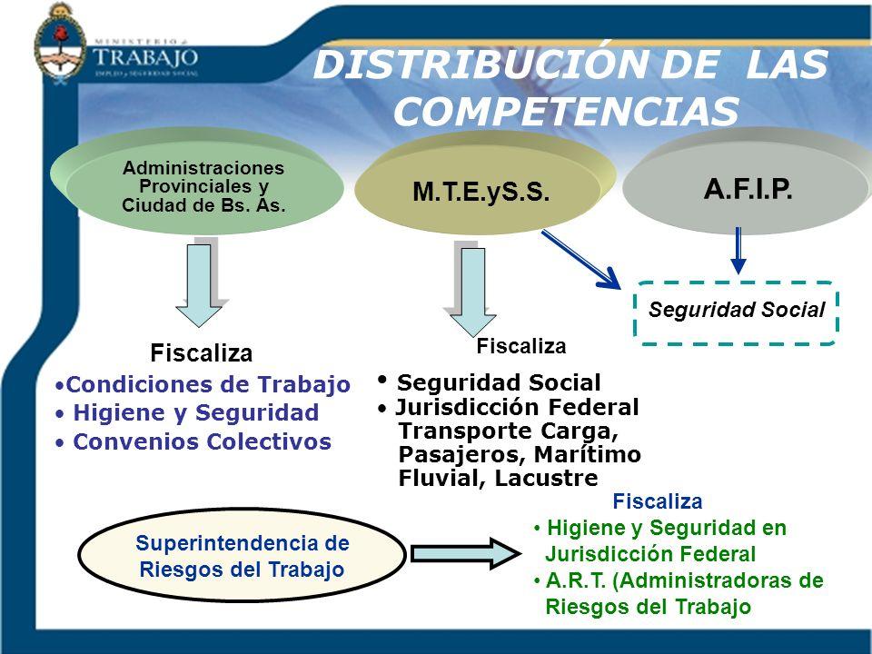 DISTRIBUCIÓN DE LAS COMPETENCIAS