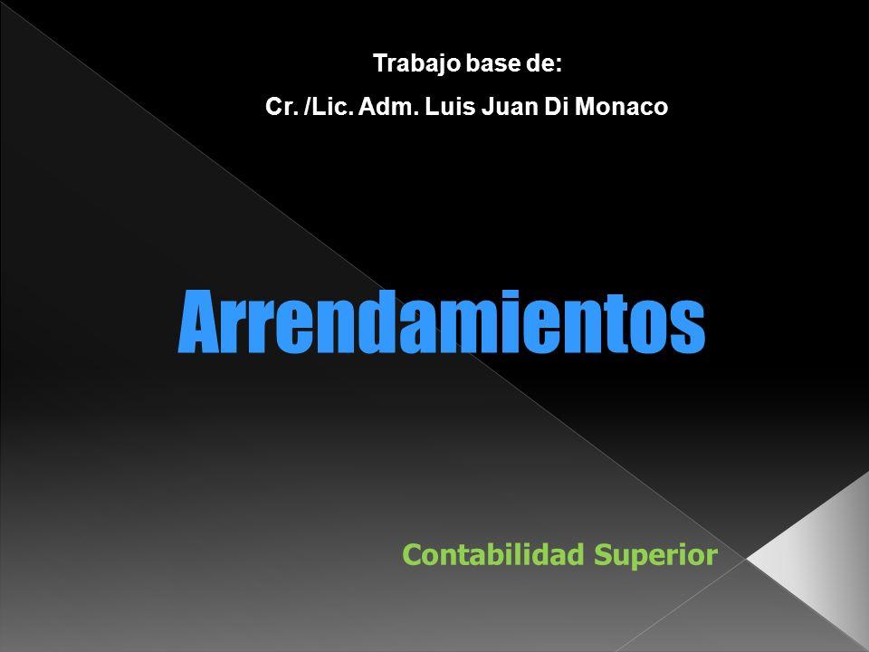 Cr. /Lic. Adm. Luis Juan Di Monaco