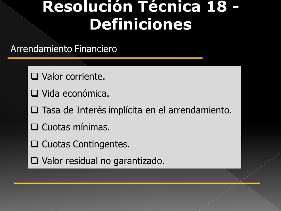 Resolución Técnica 18 - Definiciones