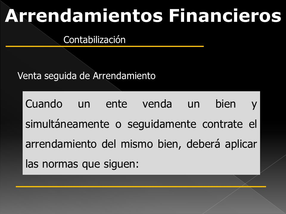 Arrendamientos Financieros